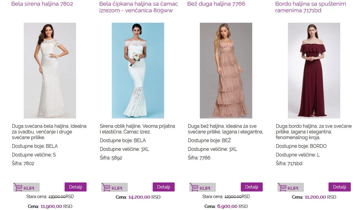 Online Prodaja Svečanih Haljina Two Sisters